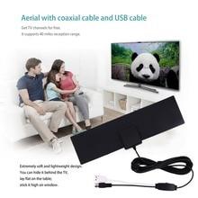 40 Meilen-Strecke ultradünne flache HD Digital verstärkte Fernsehantenne mit 3 Metern Verbindungs-Linie Innen-Digital-Fernsehsignal-Verstärker
