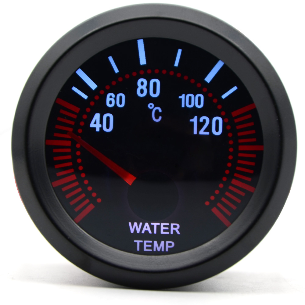 "Car Auto Universal Pointer Smoke Tint Len 2/"" 52mm Water Temp Gauge Dials WYS"