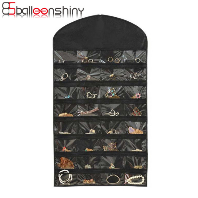 BalleenShiny Hanging Storage Bag 32 Pockets 18 Hook Dual Sided