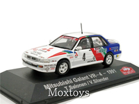 1:43 ATLAS Editions Collections Rally Monte Carlo Model Car Mitsubishi Galant VR4 1991 Diecast Miniature Racing