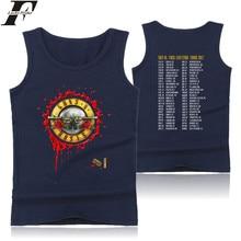 LUCKYFRIDAYF Guns And Rose Vest Punk Rock Music Band Summer Sleeveless T-shirt Tank Top Women Punk Fashion Casual Tops XXS-4XL