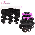 13x4 Ear to Ear Lace Frontal Closure With Bundles Cheap 8A Body Wave Virgin Brazilian 3 Bundles Human Hair Weft With Frontal