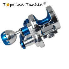 купить Topline Saltwater Fishing trolling Reel TC100-200 Max Drag 25-30kg Sea Boat Jigging Reel дешево