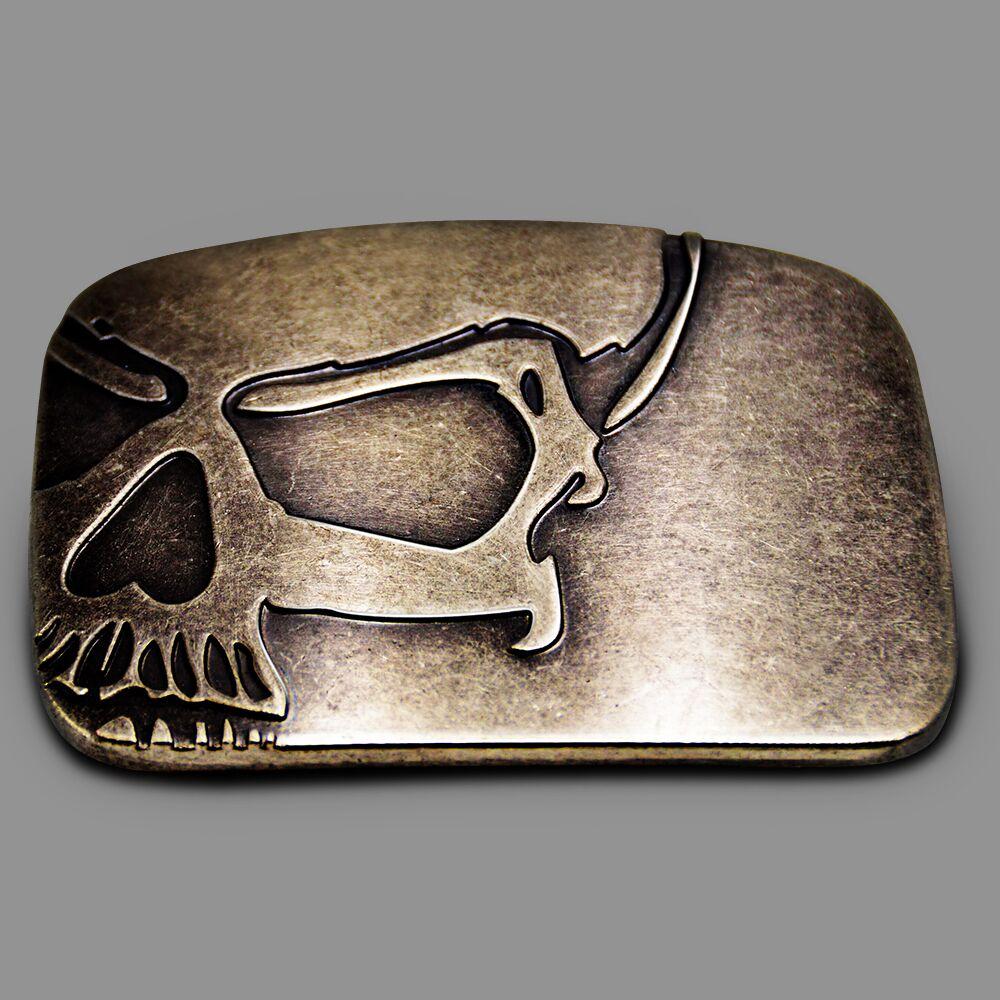 WesBuck Brand Skull Big Metal Cowboy Cowgirl Belt Buckles
