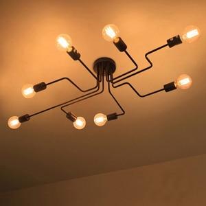Image 2 - Vintage Anhänger Lichter Kunst Küche Schlafzimmer Esszimmer Industrie Amerikanischen Dorf Hängenden Lampe Für Bar Kaffee Shop Anhänger Lampe