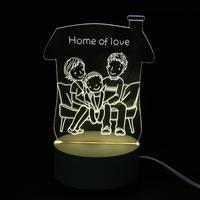 Presentes Luz Da Noite Da Lâmpada 3D branco quente Led Desk Mesa Lampara como Home Decor Quarto Reading Nightlight brinquedos dos miúdos