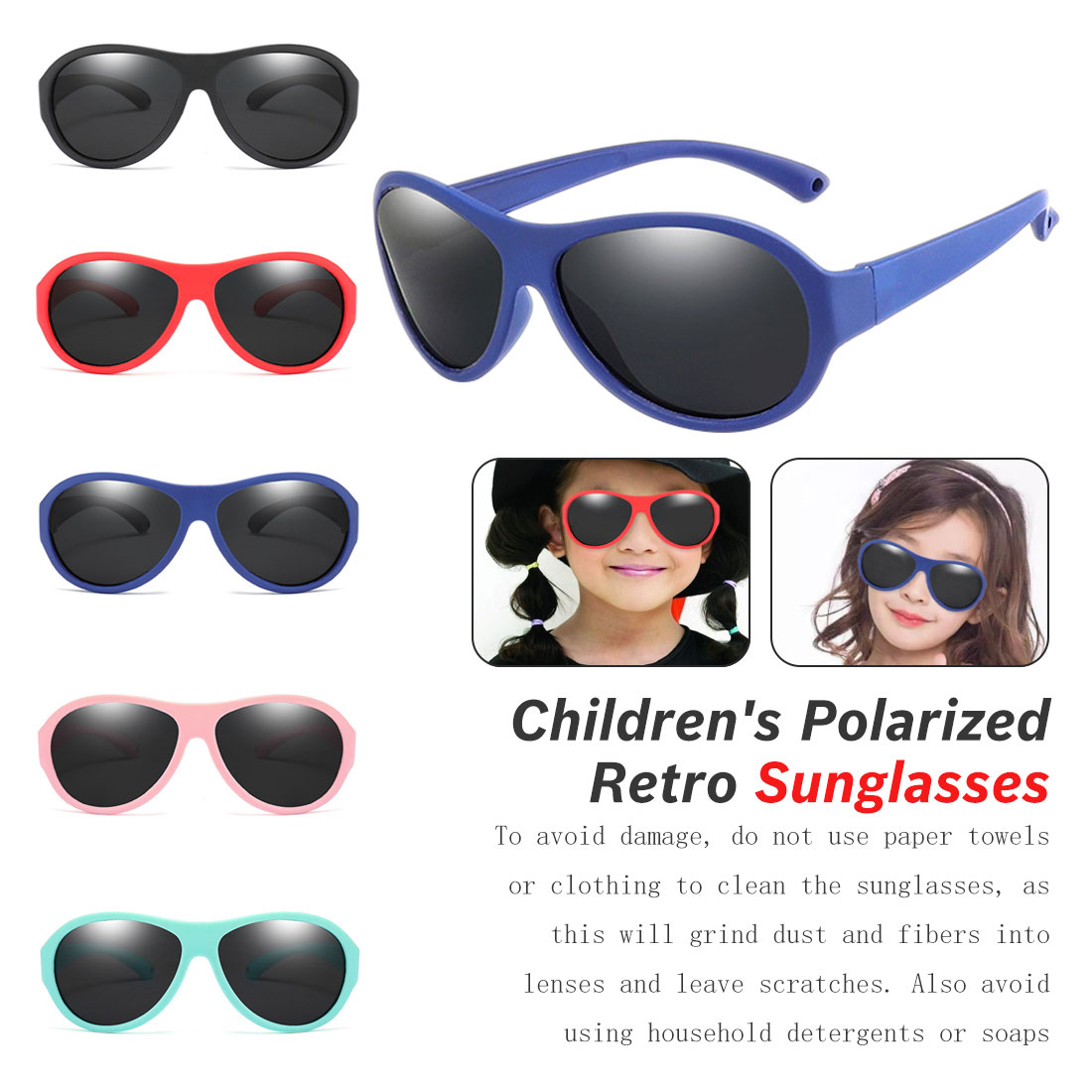 5Color Fashion Children Sunglasses Boys Girls Kids Polarized Sun Glasses TR90 Silicone Safety Glasses Baby Eyewear UV400 Oculos in Girl 39 s Sunglasses from Apparel Accessories