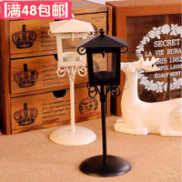 European classical lamp iron Magg grocery fragrance Candle Wedding romantic birthday gift in black and white
