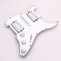 SEWS Loaded Prewired Electric Guitar Pickguard Pickups 11 Hole HSH White