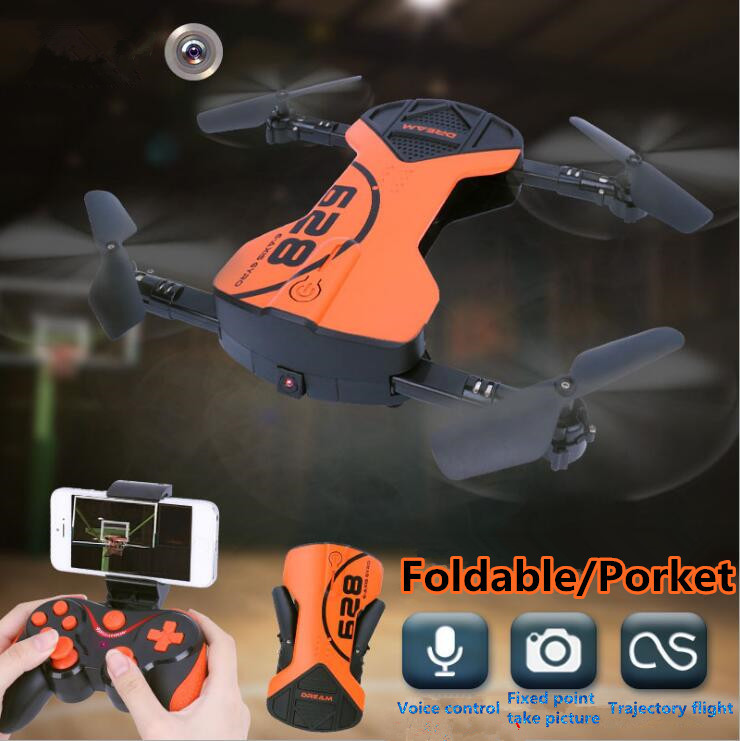 WIFI real time Mini pocket rc drone HC 628 2.4G APP voice control WIFI FPV Foldable with camera and height hold VS Wingsland S6