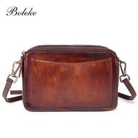 Women Genuine Leather Crossbody Sling Bag Vintage Brush Color Leather Bag Casual Ladies Messenger Shoulder Bag Gift Idea 8853