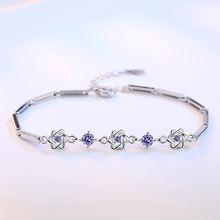925 серебро Мода маленькая звезда Блестящий с украшением в виде
