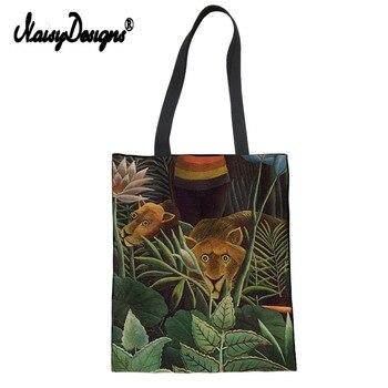 Kadın Alışveriş çanta ünlü Boyama Henri Rousseau Lady özel