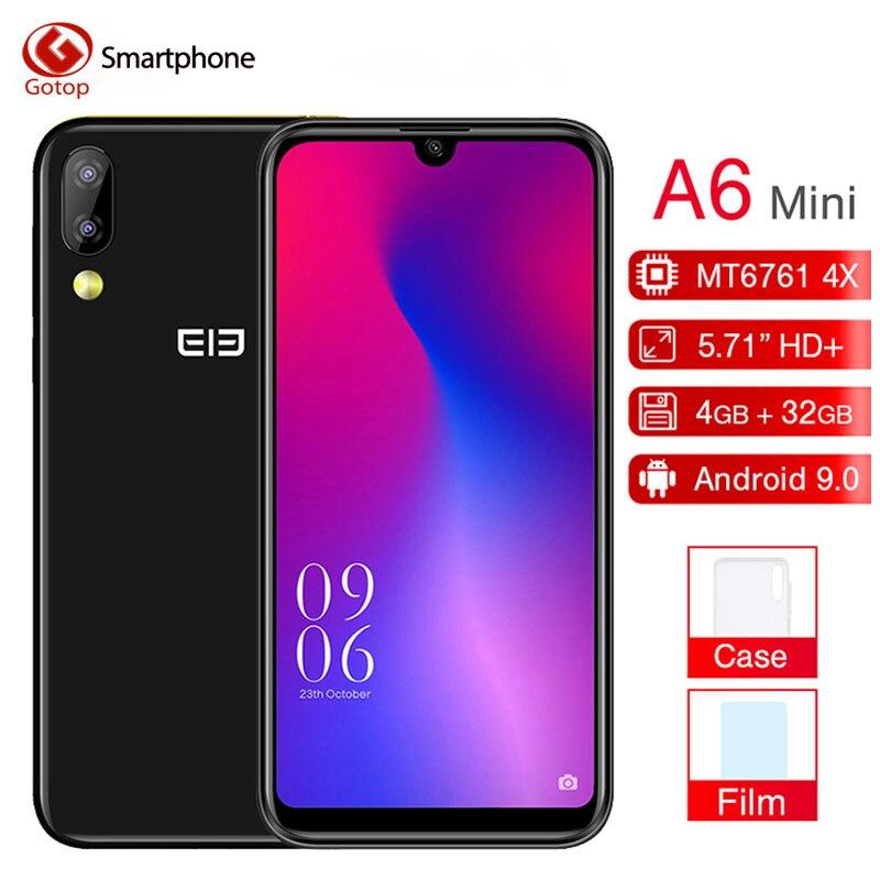 Original Elephone A6 Mini 5.71'' waterdrop Screen Mobile Phone Android 9.0 MT6761 Quad Core HD+ 4GB 32GB/64GB 16MP 4G Smartphone