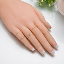 Fashion Geometric 5PCS/Set Ring Set Jewelry Joint Ring Female Tail Crystal Rhinestone Rings For Women Wedding Gift chic rhinestone faux crystal geometric shape ring for women