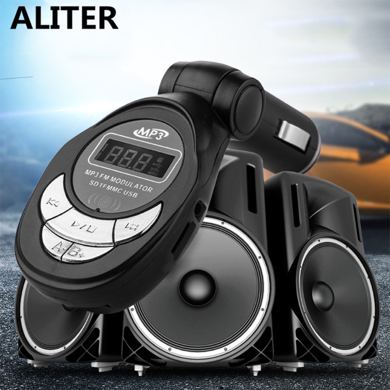 ALITER Car Bluetooth Wireless MP3 Player FM Transmitter USB Charger With Remote Control