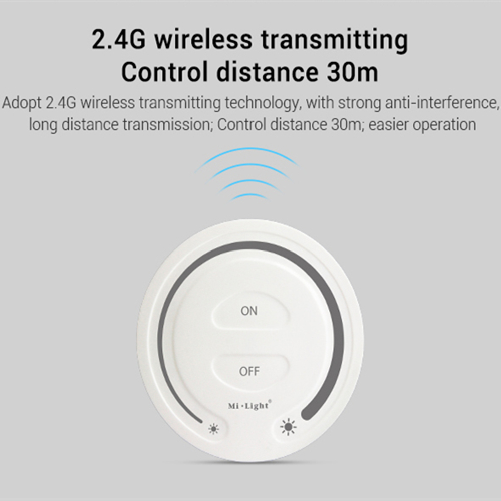 Milight FUT087 2.4G wireless Touch Dimming <font><b>Remote</b></font> <font><b>Dimmer</b></font> Adjust Brightness <font><b>LED</b></font> Controller For Miboxer <font><b>led</b></font> lamp lights product image