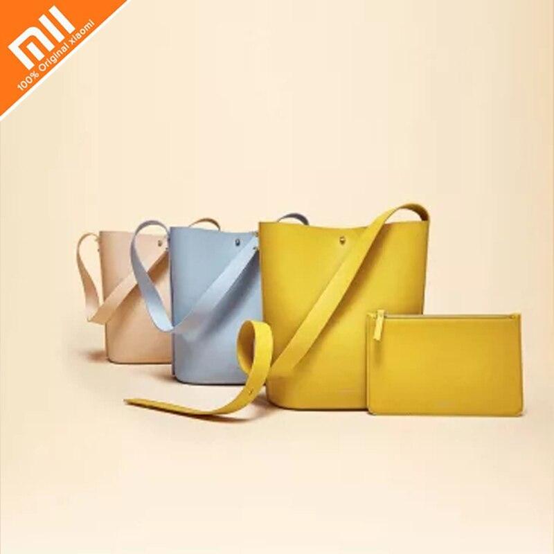 D'origine xiaomi mijia CARRY'O lumière de luxe en cuir seau sac de mode dames chambre simple paquet sous-paquet