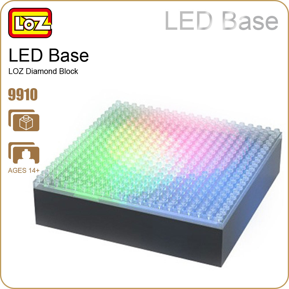 LOZ Diamond Blocks Dedicated Diy Building Tools Toy Mini Bricks Led Base Led Light Block Part Nano Pixels Accessories Fun 9910 loz mini diamond block world famous architecture financial center swfc shangha china city nanoblock model brick educational toys