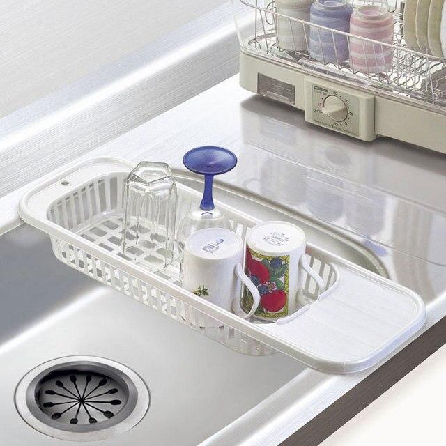 Merveilleux Kitchen Sink Drain Rack Insert Countertop Organizer Rack Dish Drying Rack  Drainer Fruit Corner Bracket Storage