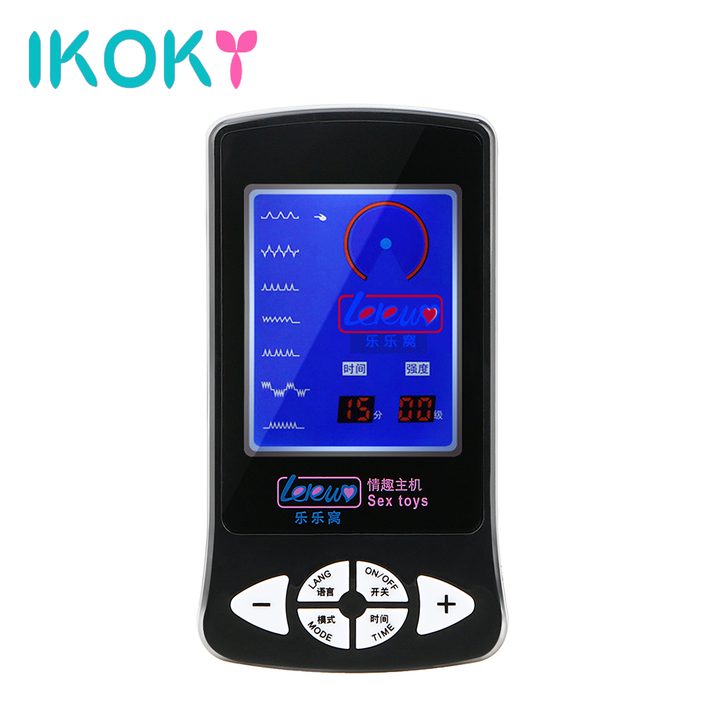 IKOKY Electric Shock Host Medical Themed Toys Sex Toys for Women Couple Electro Stimulation Therapy Massager ikoky clitoris stimulator electro stimulation sex toys for women electric shock medical themed toys glass stick