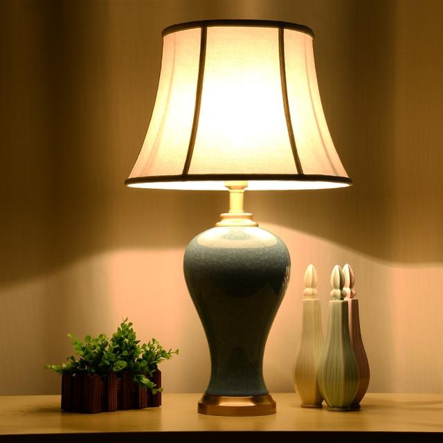 Fesselnd Kunst Chinesische Porzellan Keramik Tischlampe Schlafzimmer Wohnzimmer  Hochzeit Tischlampe Jingdezhen Led Tischleuchte