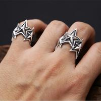 Fashion 2017 solid silver 925 ring men women superstar cuff band simple pentangle star ring 100.jpg 200x200