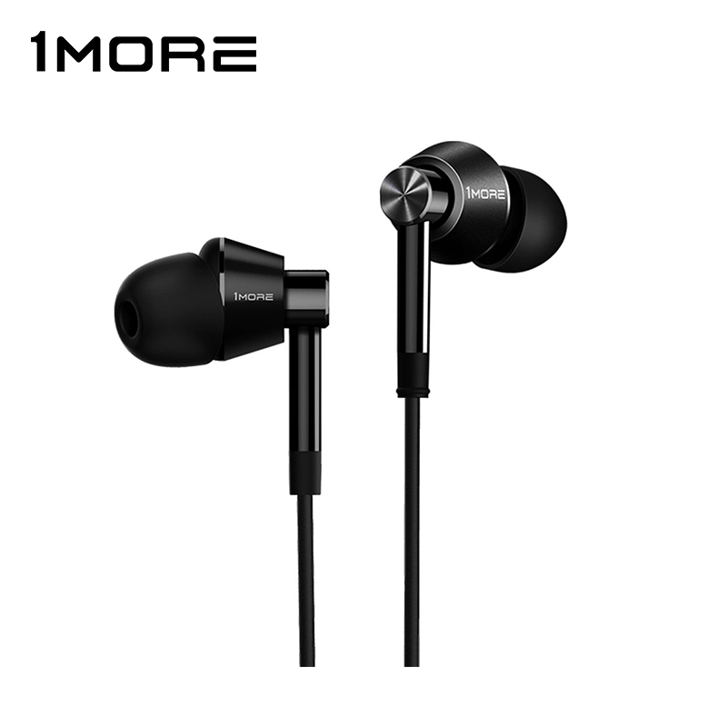 Wired Earphones 1more E1017 Dual-Driver Noise-Cancel with 3D Stereo mini tws earbuds true wireless earphone bluetooth earphones with charging box as power bank noise cancel headset yz139