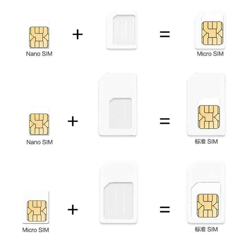 أدوات الشبكات 4 في 1 تحويل نانو بطاقة SIM إلى مايكرو ستاندرد محول لفون ل سامسونج 4G LTE USB راوتر لاسلكي