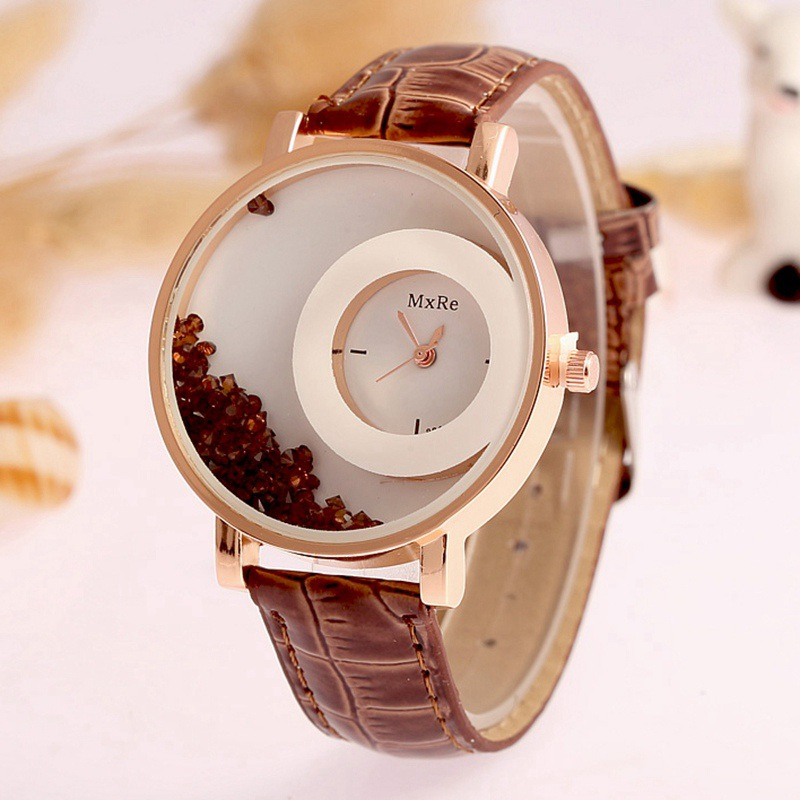 New Top Luxury Brand Leather Quartz Watch Women Ladies Fashion Bracelet Rhinestone Wristwatches Clock female relogio feminino