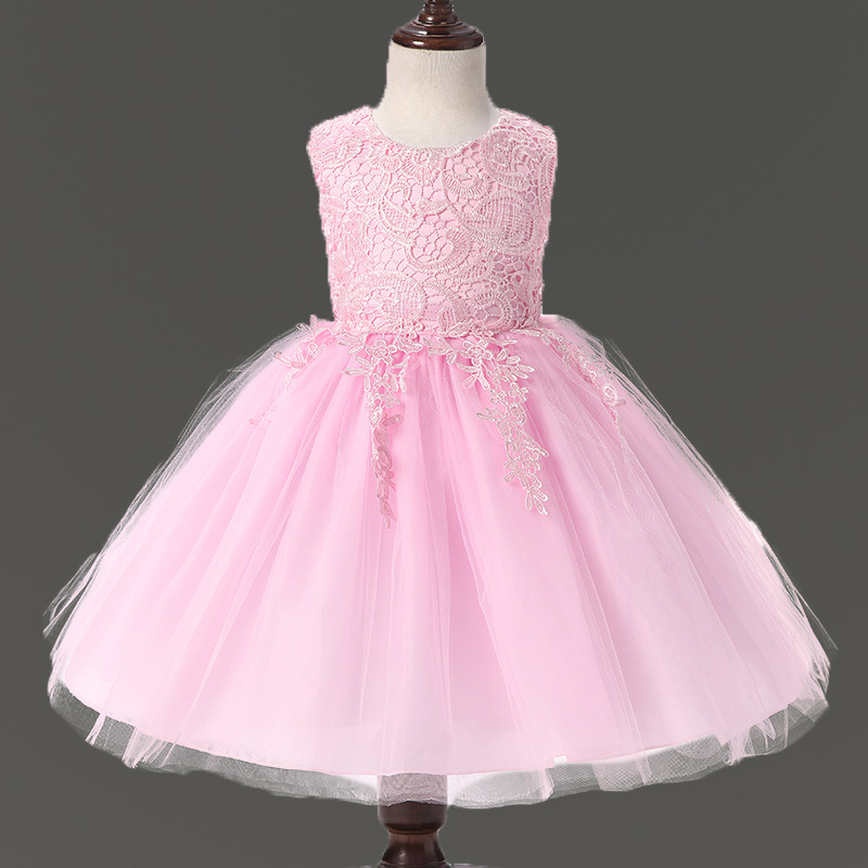 ▻Girls summer dress 0-9 year embroidered high quality graduation ...