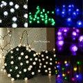 5 M/6 M/7 M/10 M/20 M Solar Powered Snowball Dandelion Fada Cordas luzes 20/30/50/100/200 LED Festa de Natal Decoração do Festival