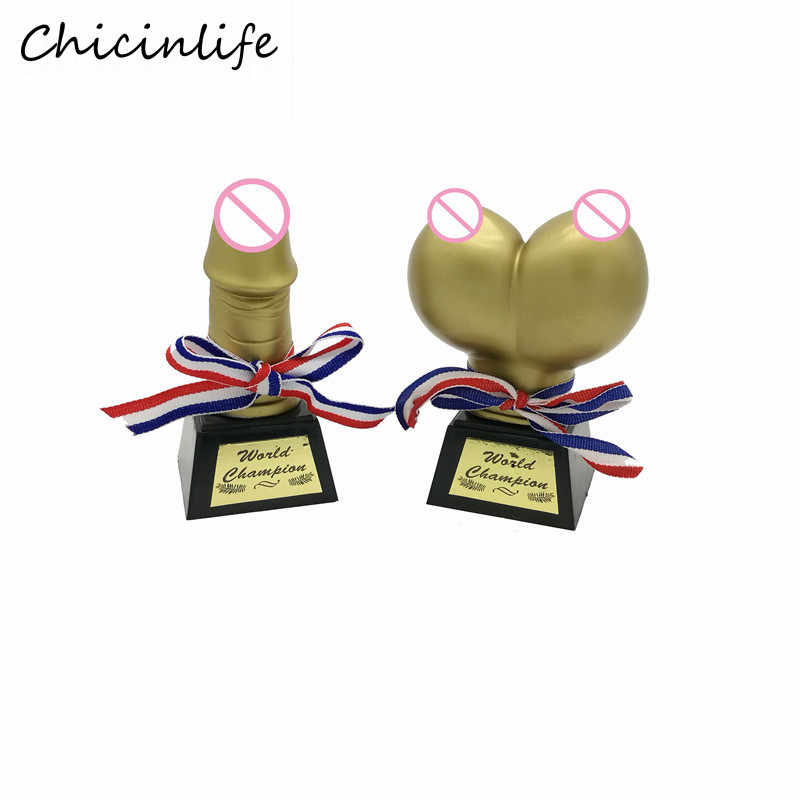 Chicinlife 1Pcs Funny Willy Game Champion Trophy Bachelorette Party Supplies Hen Night Bridal Shower Party Decoration Gift