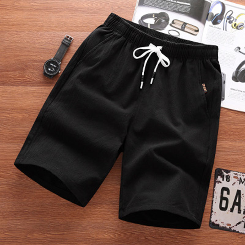 2019 Casual Knee Length Shorts Men's Fashion Hip Hop Solid Color Straight Size Plus Size Loose Shorts Men's Casual Shorts Male