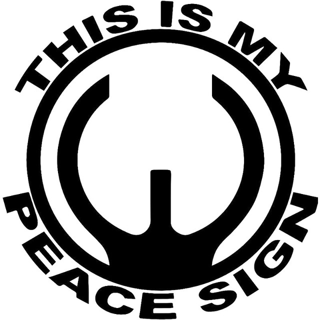 15x15cm This Is My Peace Sign Originality Vinyl Decal Motorcycle Car