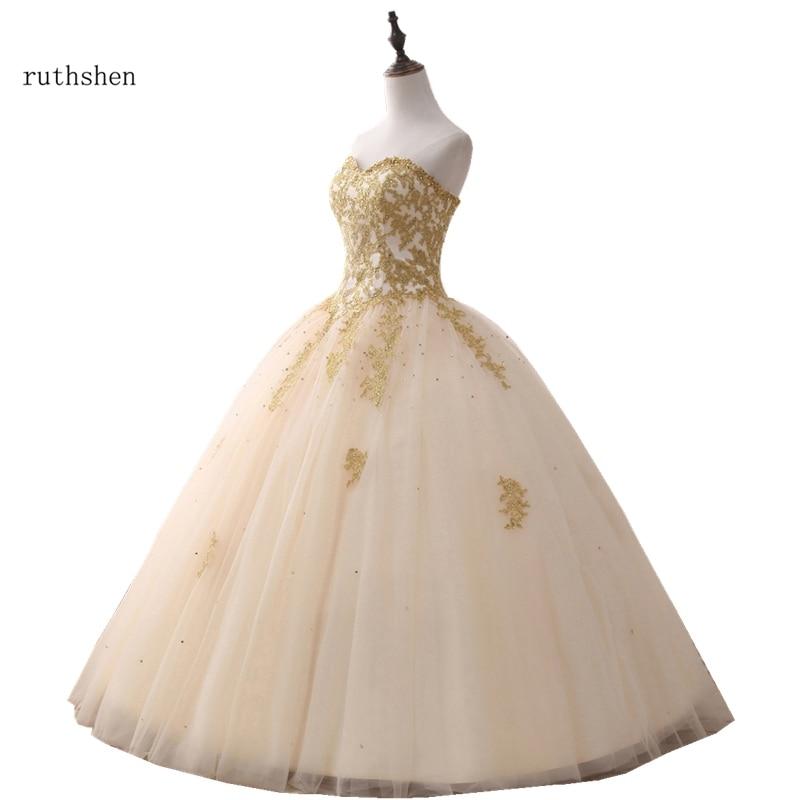 wedding dress 2019 Gold Crystal Beading Strapless Luxry Dresses Long vestido de noiva robe de mariee