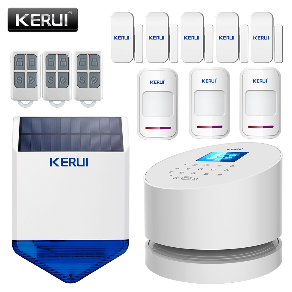 KERUI W2 WIFI GSM PSTN Alarm System Smart Home Security Infrared Motion Detection Gate Magnetic Switch Alarm Kit