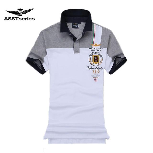 8b0e34d9e New Fashion mens polo shirt brand Aeronautica Militare men polo shirt horse  logo casual air force one polos masculino Z
