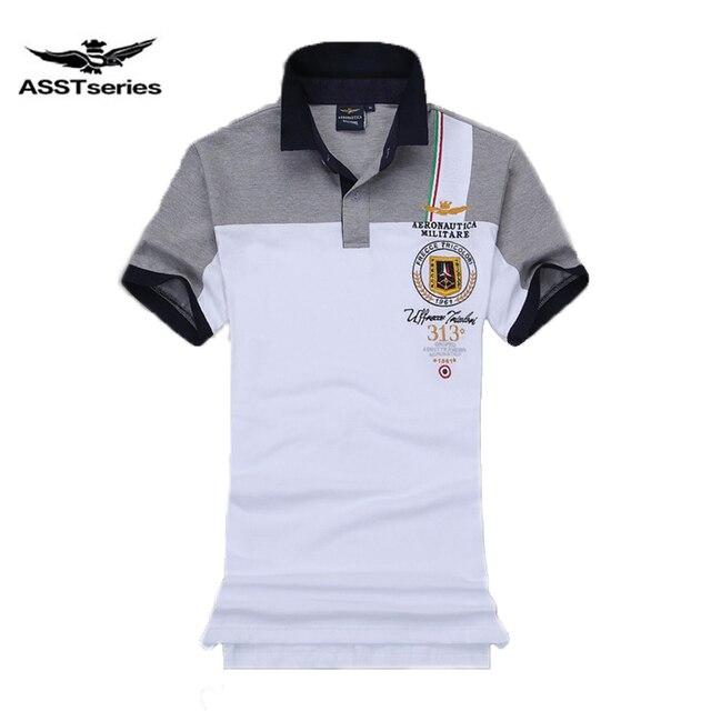 Air Force One Logo Moda Para Hombres Militare Hombre Casual Aeronautica Nueva Polo Caballo Marca 7P4Zq