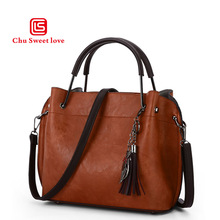 Small package bag retro fashion bags handbag shoulder with a tassel accessories trends in Europe and America 2018
