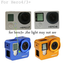 Go Pro HERO 4 3 + Aluminium Frame Housing Case + Len UV Filter untuk Go Pro Go Pro HERO 4 Hero4 Hero3 + Hitam Kamera aksesoris(China)