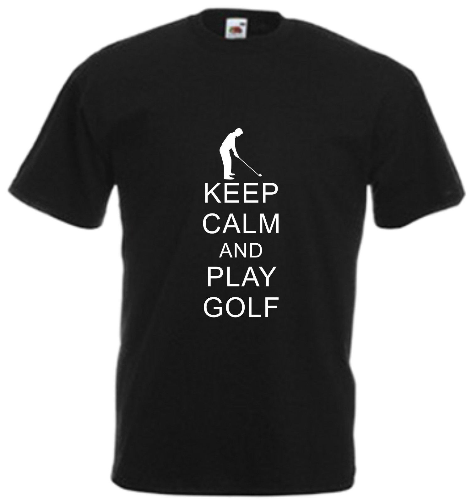 Funny Keep Calm And Play Golfer T Shirt Funny Golferer Tee Gift Top Golferer Xmas Present Summer Style T Shirt