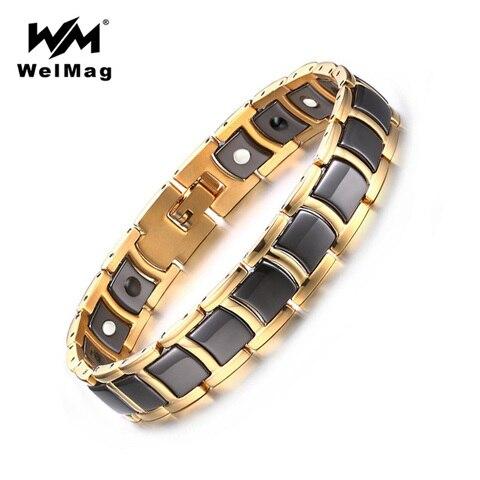 Магнитный браслет welmag из Германии черный керамический нержавеющей