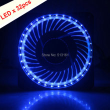 2pcs/lot Gdstime White LED Eclipse 120MM PC Computer Fan Case Cooler Cooling Guide Light Ring