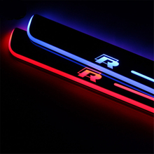 цена на SNCN LED Car Scuff Plate Trim Pedal Door Sill Pathway Moving Welcome Light For VW Volkswagen Scirocco R 2009-2015 Accessories