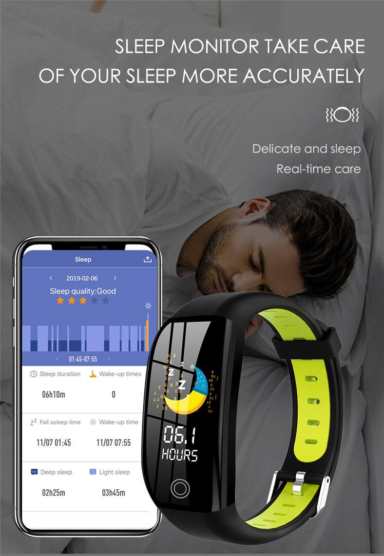 HTB1hew6a8OD3KVjSZFFq6An9pXao F21 Smart Bracelet GPS Distance Fitness Activity Tracker IP68 Waterproof Blood Pressure Watch Sleep Monitor Smart Band Wristband
