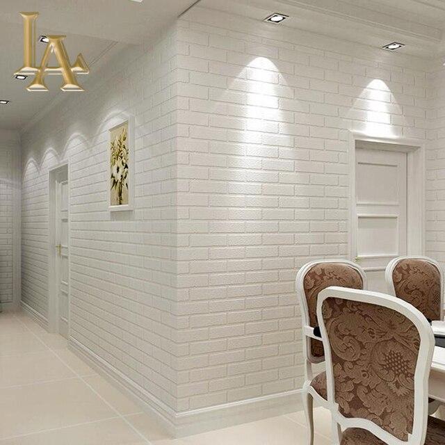 Gris Blanc En Relief Profond 3d Brique Papier Peint Pour Salon