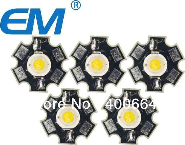 Freeshipping 50PCS/lot 3W Warm White High Power LED Light Emitter 3000K with 20mm Star Heatsink for DIY