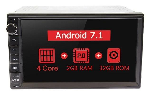 """MARUBOX 7A707,Универсальная автомагнитола 2 DIN,Универсальное головное устройство 2 din,автомобильный мультимедийный плеер, Android 7.1,Android 8.1,1024*600 HD """" ips, gps, Wi-Fi, навигация - Цвет: 2G 32GB 4 Core"""