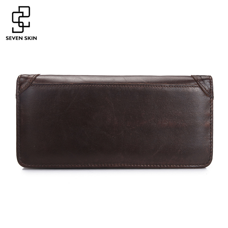 Men's Business Long Wallet Genuine Leather Wallet Clutch Portable Cash Purses Casual Standard Wallets Male Card Holder Money Bag 2016 luxury women wallets genuine leather crocodile purses business wallets for woman shinning money cash bag card holder clutch